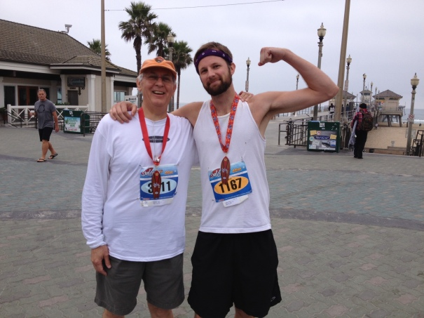 Ryan and I near the finish line. Yes, that's the ocean in the background.